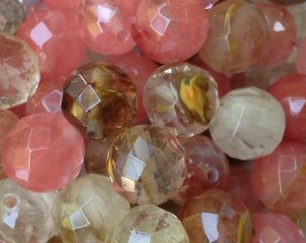 20 Beads - 12mm -Mixed Cherry Quartz Gemstone Beads