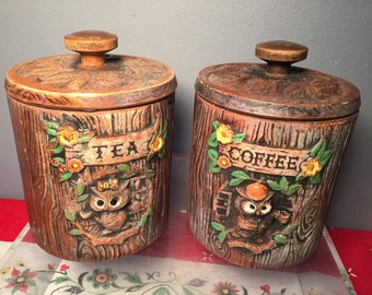 Vintage Treasure Craft Tea and Coffee Canister Set