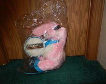 Vintage Plush Energizer Bunny with flip flops, sunglasses, drum and drumsticks