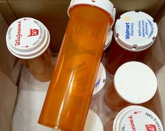 Prescription Bottles Upcycled, Tall Plastic Medicine Bottles, Empty Pill Bottles