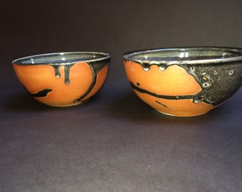 Rust and Black Condiment Bowls