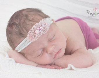 Girls 'Gracie' newborn headband.