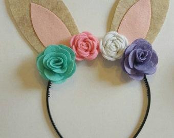 Floral bunny headbands!