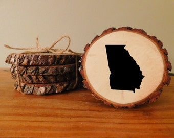 Rustic Georgia Wood Coasters