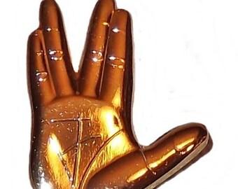 Star Trek Series Vulcan Hand Live Long and Propser Pin
