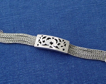 Sterling Silver Bracelet Handcrafted -Ancient Filigree design