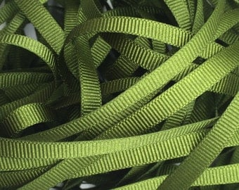 2 metres Berisfords 10mm Moss Green (9892) Grosgrain ribbon