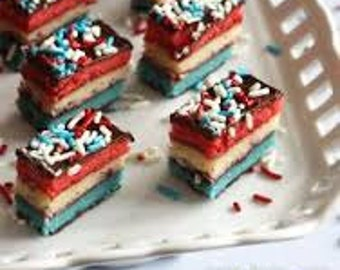 Red, White, and Blue Layered Cookies