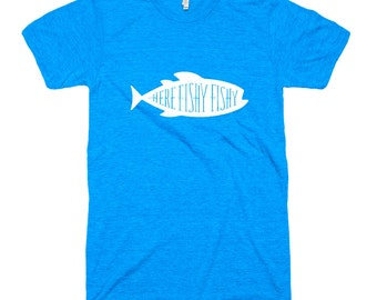 Here Fishy Fishy Tri-Blend T-Shirt