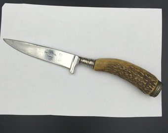 Vintage Henley&Co Knife,Germany Knife,Othello Stainless,Vintage Hunting Knife,Vintage German knife,Stag Handle Knife,Collectible Knife,
