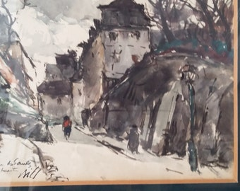 Watercolour of Montmartre