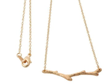 18 inch Gold or Silver Plated Tree Branch Twig Pendant Necklaces, Twig Pendant Necklace, twig necklace, stick necklace