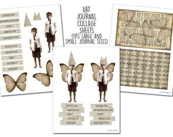 Struggle & Aspiration - Art Journal Collage Sheets