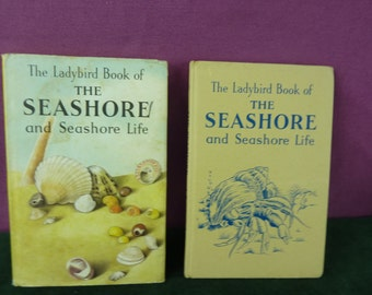 Vintage Ladybird book The Seashore  with dust jacket marked 2'6