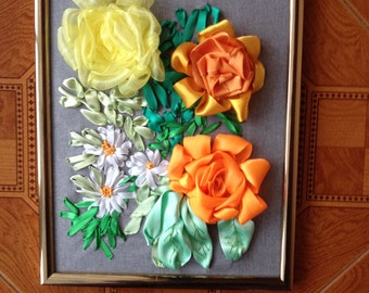 Image bands flowers embroidery
