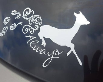 Always Car Decal, Doe, Patronus, Snape, Harry Potter, laptop decal