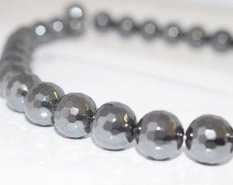 12mm Disco Ball Hematite Round Gemstones Beads, hematite,hematite jewelry,hematite stone,hematite ,hematite gemstone,round hematite bead