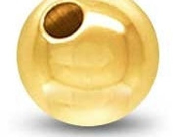 5mm Gold Filled Round Ball Bead, Plain, GF3201