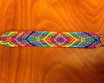 Handmade Woven Chevron Pattern Friendship Bracelet