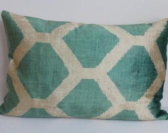 Velvet Ikat Pillow Cover-16''x24''Soft Decorative Sofa Pillow Designer Throw Pillow Soft Pillow Cover Home And Decor Throw Pillow Sofa