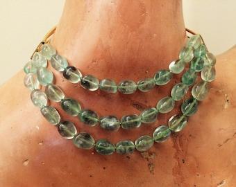 ANTICOA Genuine Flourite Gemstone Necklace