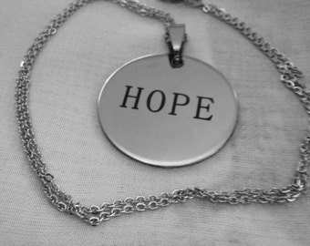 Hope Stainless Steel Necklace and Pendant