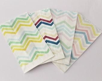 "Paper kraft bag paper Bags kraft bags Chevron zig zag pastel ""confettata"""