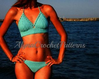 Crochet Bikini  Pattern - Crochet Pattern Bikini - Crochet Pattern - Instant Download
