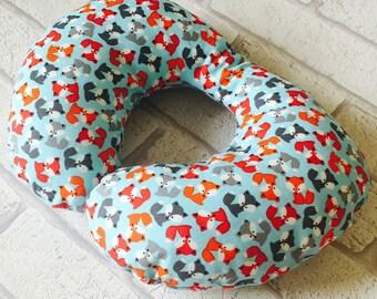 Childrens Neck Pillow, Cushion,Travel Pillow, Neck Rest, Childs Neck Rest, Childs Neck Pillow, Toddler Neck Pillow, Fox Fabric, FREE POSTAGE
