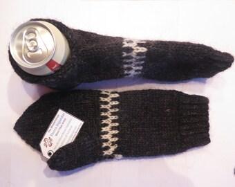 Icelandic WOOL BEER MITTENS.  Hand knitted by Thora Sigurdar. - Wool fiber artist.