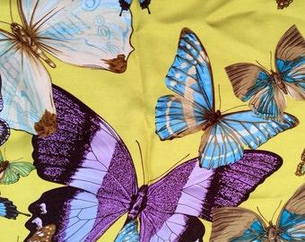 Vintage Echo silk butterfly scarf.