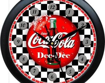 "Coca Cola  10"" Custom Personalized Wall Clock"