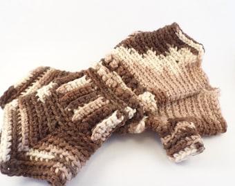 Crochet Gauntlet Gloves