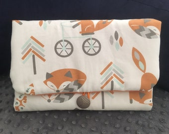 Fox tribal - Hand-crafted travel changing pad