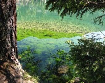 Lake reflections to Champeix