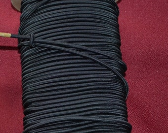 10 YARDS OF 4 mm BLACK  Elastic Shock Cord