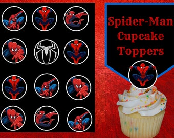 Marvels Spider-man Cupcake Toppers printable