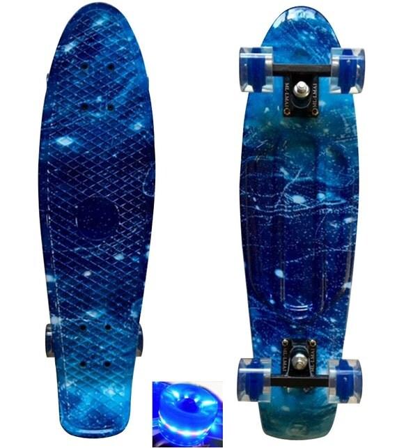 Lmai 22 27 Cruiser Skateboard Graphic Galaxy Blue