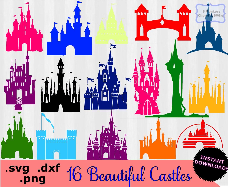 Disney Castle clipart Disney Castle SVG svg files by ...