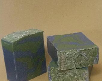 Seattle Blue & Green Soap