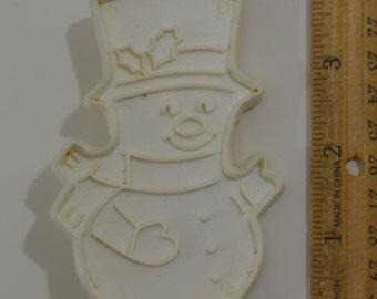 "Vintage YULETIDE ENTERPRISES SNOWMAN Christmas Cookie Cutter | 1979 3.75"""