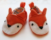Fox Baby Shoes - Animal Booties - Felt Slippers - Forest