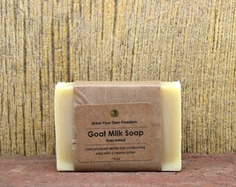 Organic Goat Milk Soap, Handmade Organic Unscented Soap, Organic Soap, Goat Milk Unscented Soap, Unscented Goat Milk Soap