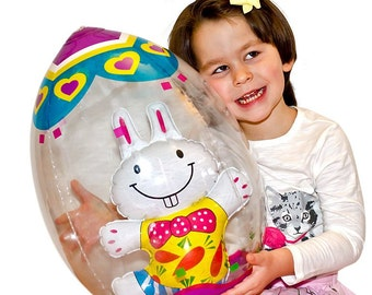 "19"" Inflatable Easter Egg with Bunny- SKU # INF01"