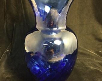 Blue Glass Vessel/ Bowl/ Vase