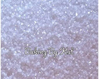 White 4 oz Decorating Edible Sugar Crystals. Party Supplies, Cupcakes, Cookies, Cake,  Ice Cream.