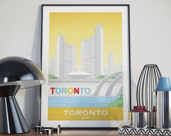 Toronto, Ontario City Illustration