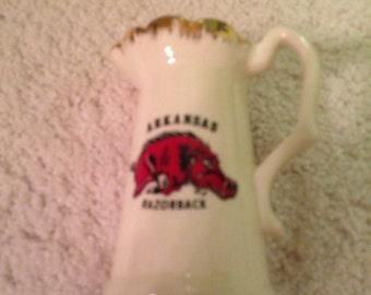 Vintage Arkansas Razorbacks creamer