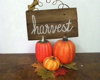 Fall Sign - Harvest Sign - Fall Decor - Rustic Fall Sign - Custom - Hand Painted - Reclaimed Pallet Wood Sign - Fall Home Decor
