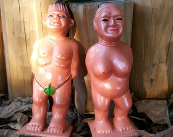 African Adam and eve figurines